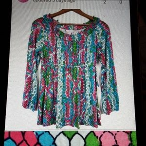 Lily Pulitzer long sleeve blouse S